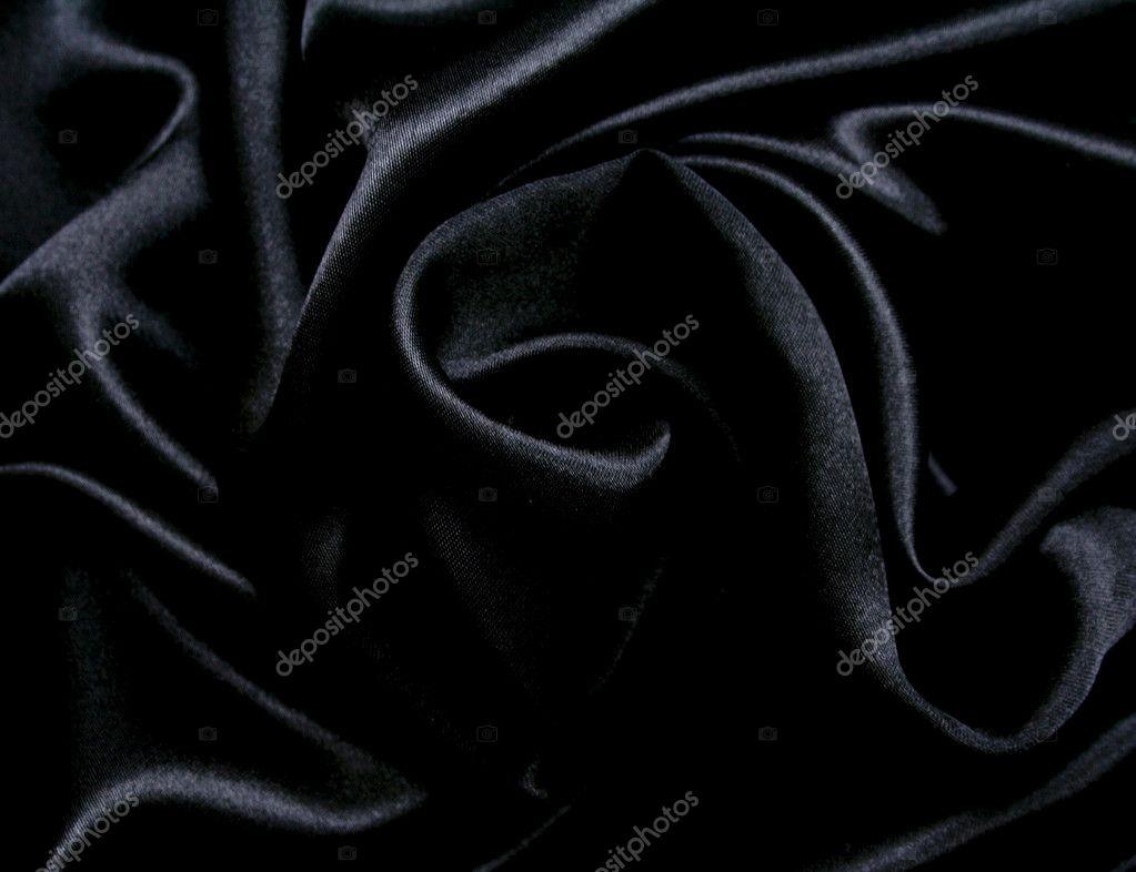 smooth elegant black silk - photo #26