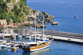 Turkey. Antalya town.Harbor — Stock Photo