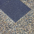Cobblestone hand-made pavement — Stock Photo