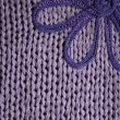 Stock Photo: Lilac knitted fabric cuse as background