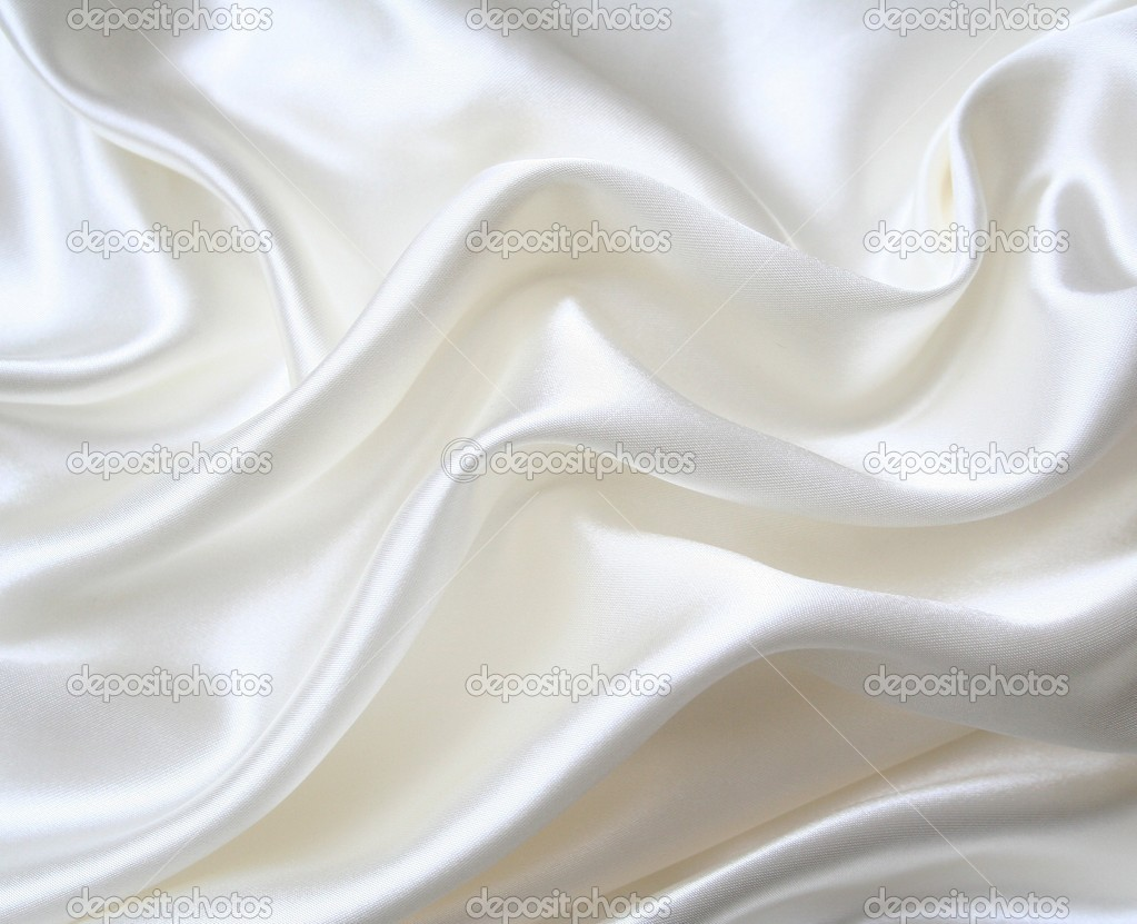 Smooth elegant white silk can use as wedding background  — Stock Photo #5803474
