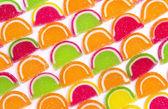 Doces coloridos diferentes de geléia — Fotografia Stock