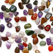 Semiprecious stones on white background — Stockfoto