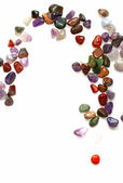 Semiprecious stones on white background — 图库照片