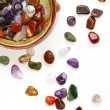 Semiprecious stones on white background — Stockfoto #5884337