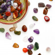 Semiprecious stones on white background — Foto Stock
