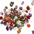 图库照片: Semiprecious stones on white background
