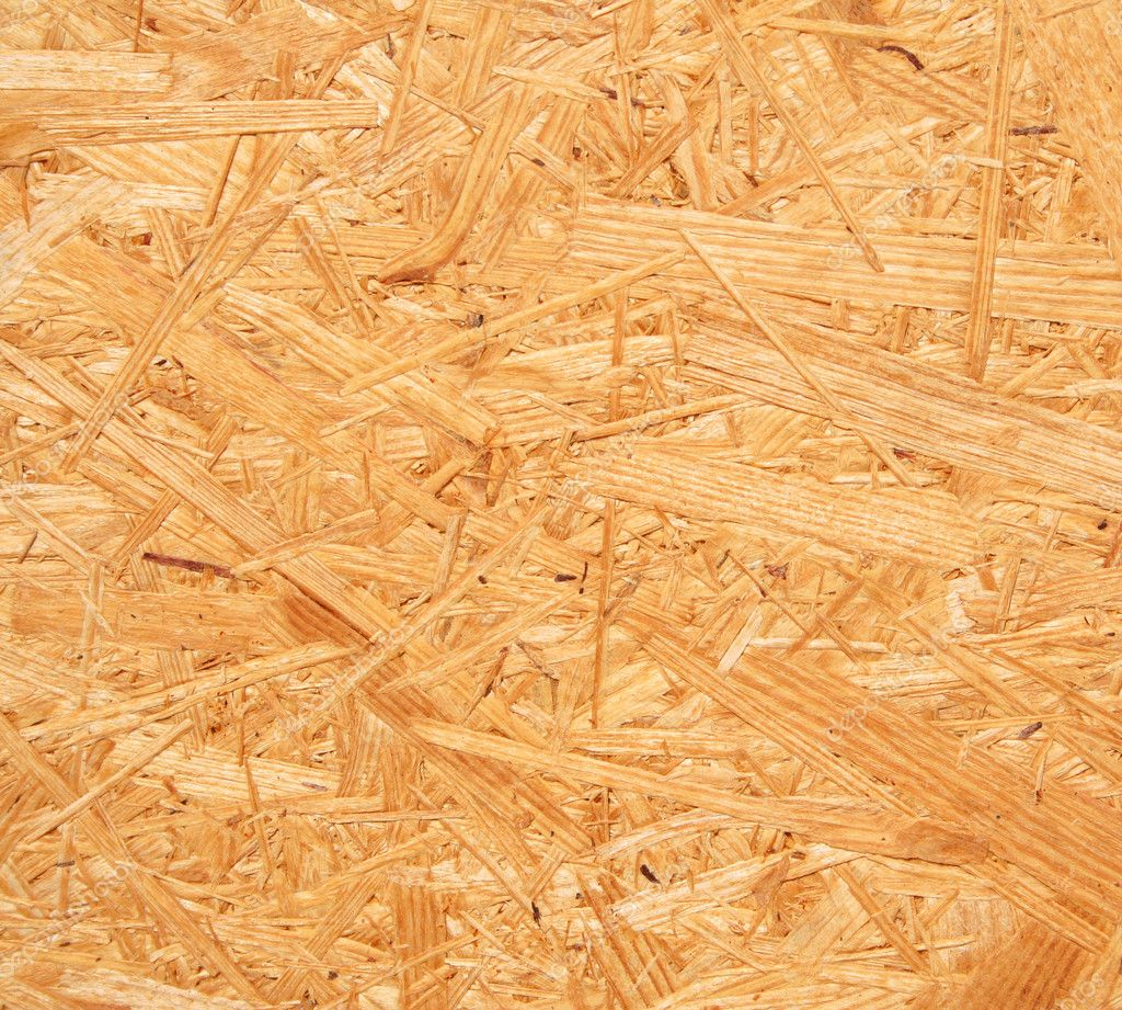 Yellow Wood Chipboard As Background Stock Photo
