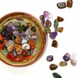 Stockfoto: Semiprecious stones on white background