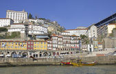 Portugal. Porto city. Old historical part of Porto. Ribeira — Stock Photo