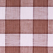 Linen white and brown fabric as background — Stock Photo