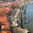 Portugal. Porto. Gaya. View of Douro river embankment - Stock Photo