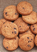 Delicious chocolate chip cookies — Stock Photo