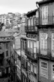 Portugal. Porto stad in zwart-wit — Stockfoto