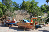 Turkey. Antalya town. Colorful boats — Stock Photo