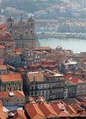 Portugal. porto. luchtfoto uitzicht over de stad — Stockfoto