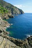 Itálie. pobřeží cinque terre — Stock fotografie