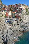 イタリア。チンクエ ・ テッレ地域。manarola の村 — ストック写真