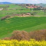 Italy. Val D'Orcia valley. Tuscany landscape — Stock Photo
