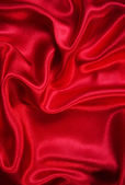 Smooth elegant red silk as background — Stock Photo