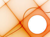 Orange geometric template — Stock Photo