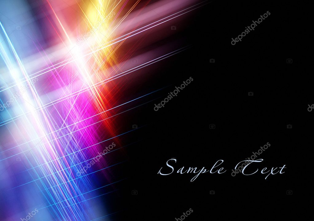 Beautiful bright fractal template with copy space — Stockfoto #5422104