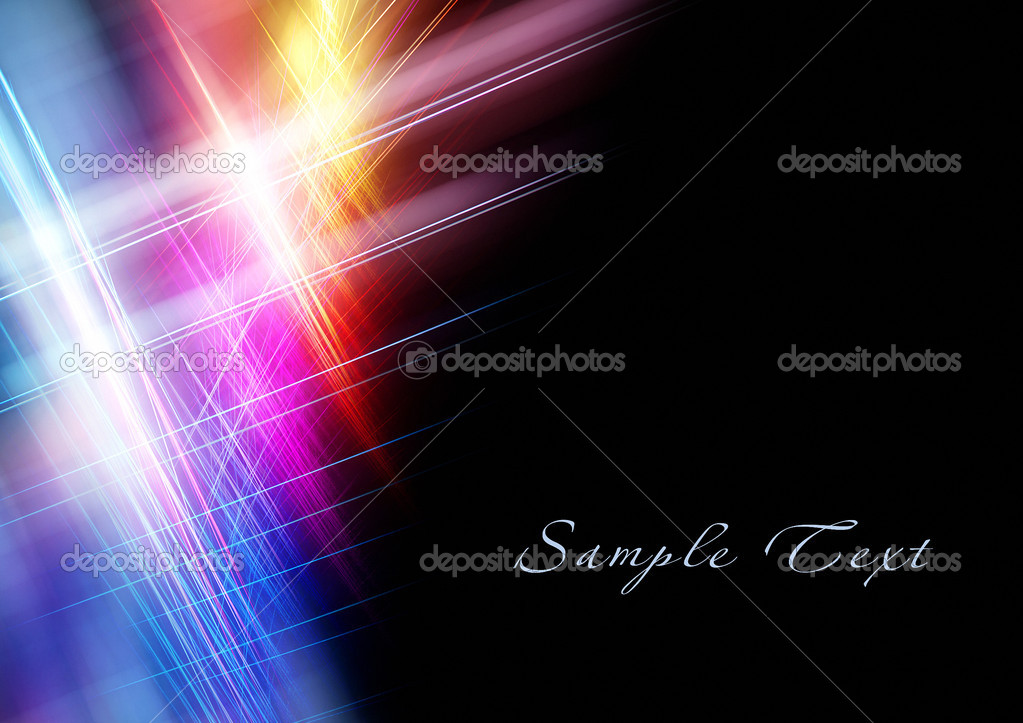 Beautiful bright fractal template with copy space  Foto Stock #5422104
