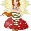 Young forest fairy — Stock Vector