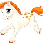 Running baby horse — Stock Vector