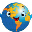 World globe character - Stock Vector