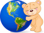 Love Earth Bear — Stock Vector
