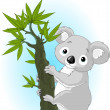 Cute koala on a tree — Stock Vector