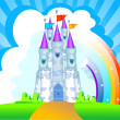 Royalty-Free Stock Vectorielle: Magic Castle invitation card