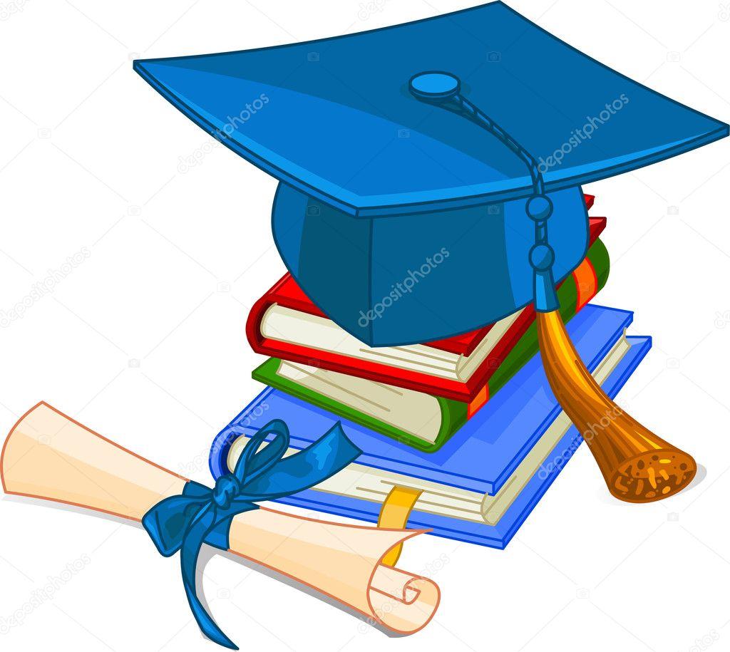 Diploma e chapéu de formatura — Vetor de Stock © Dazdraperma ...