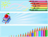 Different Back to school banners — Stock Vector