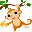 Baby monkey on a tree — Stock Vector #5586384