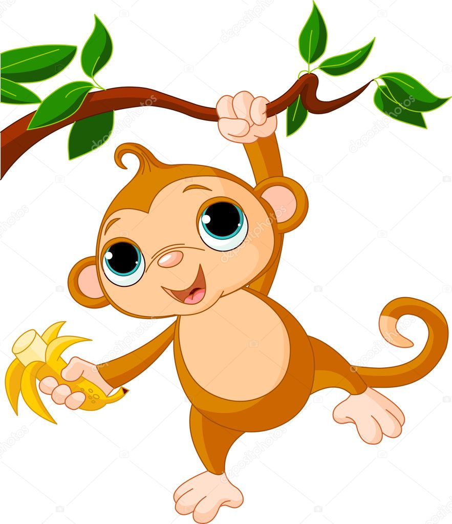 baby monkey clip art - photo #41