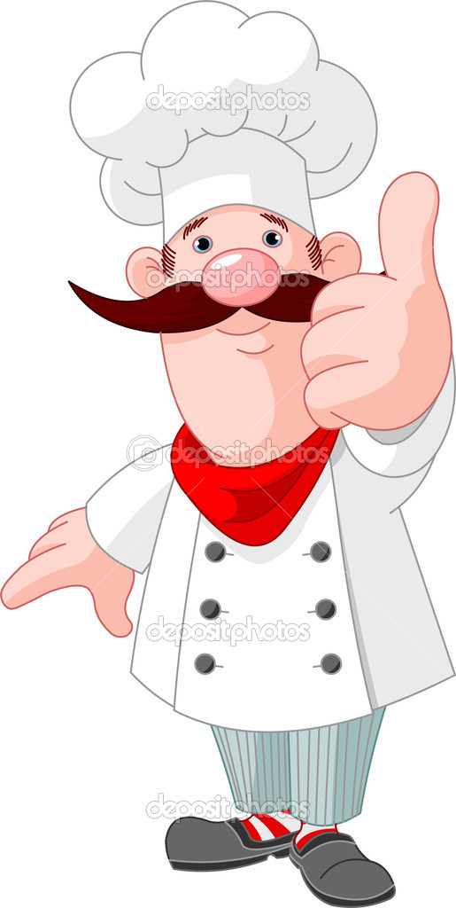 Illustration of chef cook giving thumbs up — Stock Vector #5593454