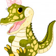 Baby girl crocodile - Stock Vector