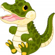 Baby crocodile — Stock Vector