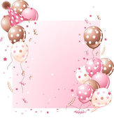 Pink Birthday card — Stock Vector