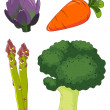 Stock Vector: Set of vegetables 1