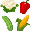 Set of vegetables2 — Stock Vector