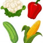 Set of vegetables2 — Stock Vector