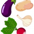 Set of vegetables3 - Stock Vector