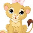 Lion girl cub - Stock Vector