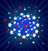 American starburst background — Stock Vector