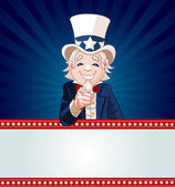Uncle Sam Wants You! — Stock Vector