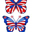 USA butterflys - Stock Vector