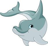 Swimming Dolphin — Stock Vector